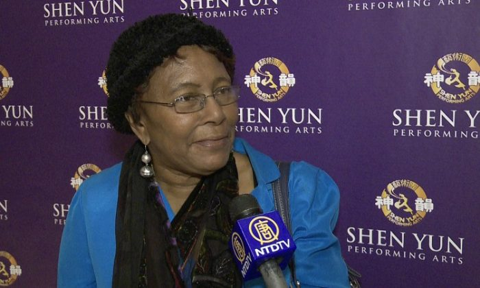 Jessie Collins attends Shen Yun Performing Arts at Lincoln Center's David H. Koch Theater on Sunday afternoon. (Courtesy of NTD Television)