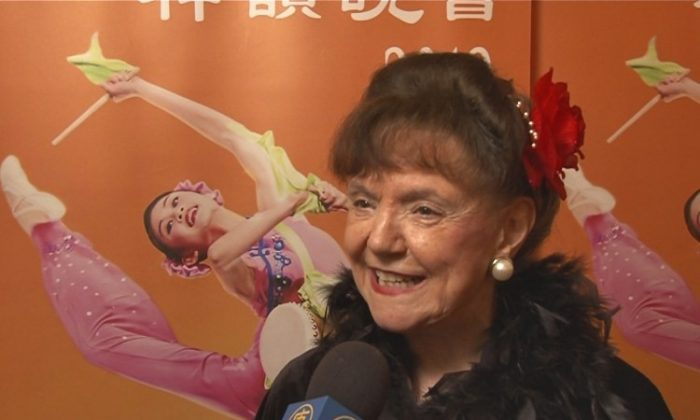 Marie Frances shares her Shen Yun experience at Washington's Kennedy Center, on March 21. (Courtesy of NTD Television)