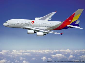 Asiana Airlines of South Korea has become a new customer for the A380 following the signature of a firm order for six aircraft in Jan 2011 (Courtesy of Airbus)