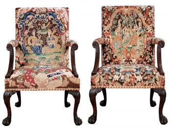 A LADY'S CHOICE: With a regal provenance, this pair of armchairs is destined for a special home, perhaps The Metropolitan Museum of Art? $100,000 to $150,000.  (Courtesy of Doyle's New York)