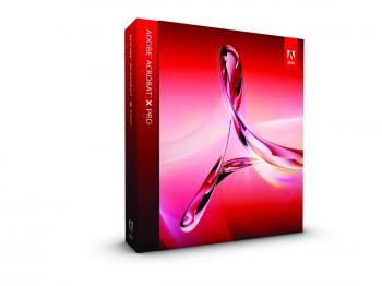 PDF SOFTWARE: A box shot of Adobe Acrobat X Pro.  (Adobe)