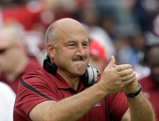 Temple football coach Steve Addazio led his team to a 9-4 record last year, their last in the MAC. (Rob Carr/Getty Images)
