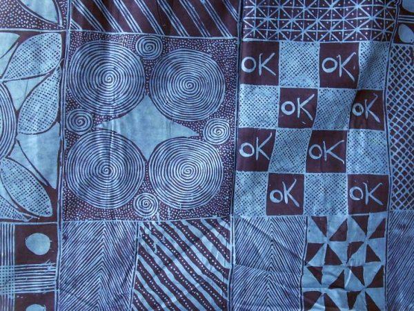 Adire eleko print brought to the market by Adeyemo. (Courtesy of Gasali Adeyemo)