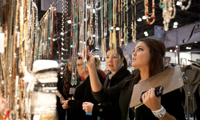 The Mystree booth at the Jacob Javits center on Wednesday. (Amal Chen/The Epoch Times)