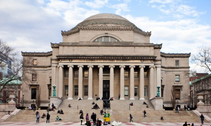 The Low Memorial Library, known as the focal point of Columbia University's campus, was the first structure erected after Columbia settled in Morningside Heights. (Amal Chen/The Epoch Times)