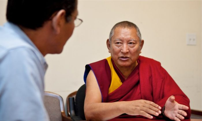 His Eminence Kirti Rinpoche. (Amal Chen/The Epoch Times)