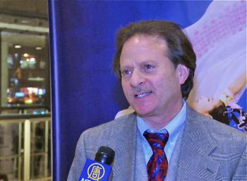 Steve Barrison at Lincoln Center's David H. Koch Theater, attending the premiere of Shen Yun Performing Arts on Jan. 6, 2011. (Courtesy of NTD Television)