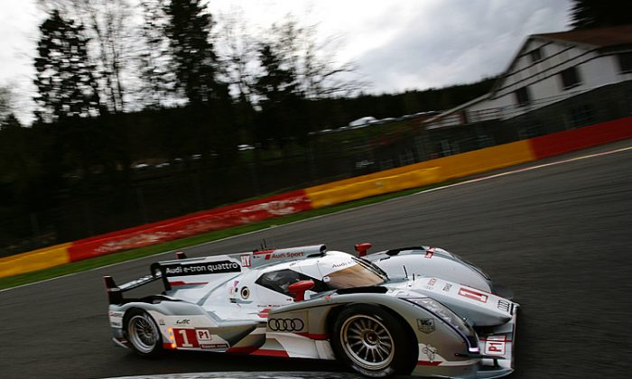 The #1 Audi R18 e-tron Quattro was quickest in Thursday's second practice session. (audi-motorsport.info)