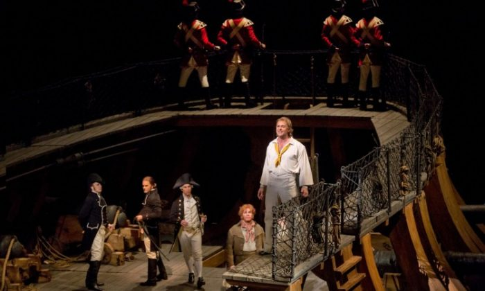 "A scene from the opera ""Billy Budd,"" remaining performances at the Metropolitan Opera House are on May 10 and 12. (Ken Howard/Metropolitan Opera)"