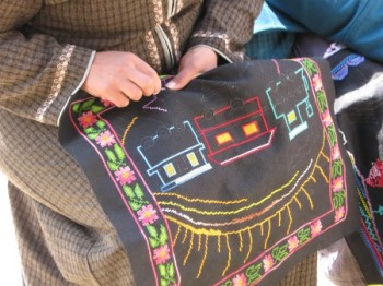 CHANGES: Bedouin women, as they move from a nomadic to a modern lifestyle, find a foothold in the traditional arts such as embroidery, while expressing their memories and dreams. (Courtesy of Orna Goren)