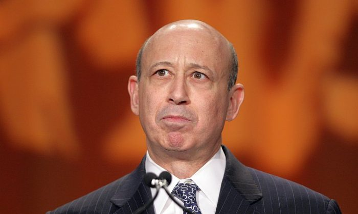 "Lloyd Blankfein, chairman and CEO of Goldman Sachs speaks at a conference in Washington DC in 2011. This week, Blankfein ordered a review of internal communications, following accusations by a former high-level employee that several of the firm's managing directors referred to their clients as ""muppets."" (Chris Kleponis/AFP/Getty Images)"
