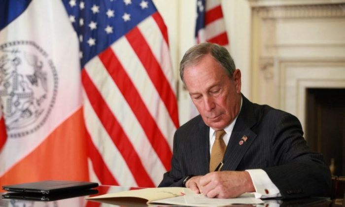 Mayor Michael Bloomberg vetoed the prevailing wage bill on April 25 at City Hall. (Photo courtesy of the Mayor's Office)