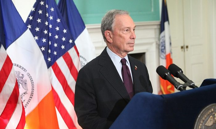 Mayor Michael Bloomberg presides over a bill signing on Tuesday. (Courtesy of Mayor's Office)