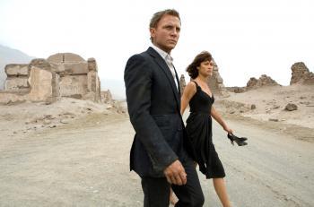 "Daniel Craig and Olga Kurylenko star in the action adventure ""Quantum of Solace."" (Karen Ballard/ Columbia Pictures)"