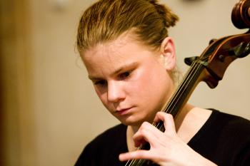 SISTER CELLIST: Cellist Anna Brikciusov&#225, sister of Franti&#353ek Brikcius. The two musicians have put together the 'Duo Brikcius--2 Cellos Tour.' (Courtesy of Franti&#353ek Brikcius)