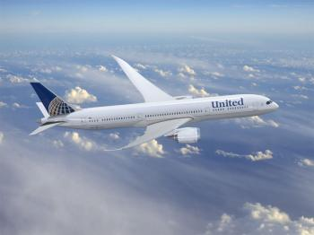 NEW LIVERY: The new livery of United Airlines is shown in this artist's rendering of a Boeing 787 Dreamliner. (Courtesy of United Airlines )