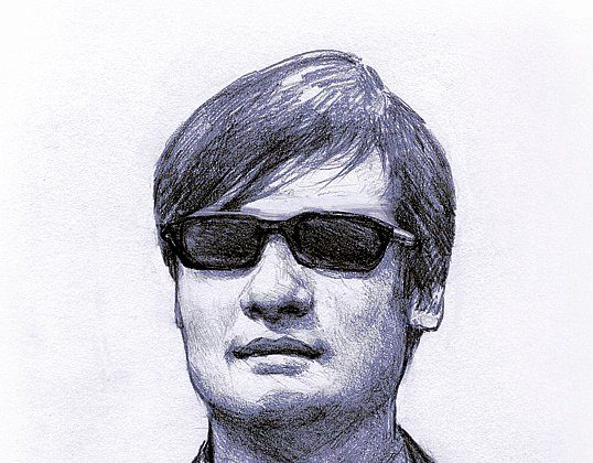Blind activist-lawyer Chen Guangcheng. (Illustration by Vivan Song/Epoch Times)