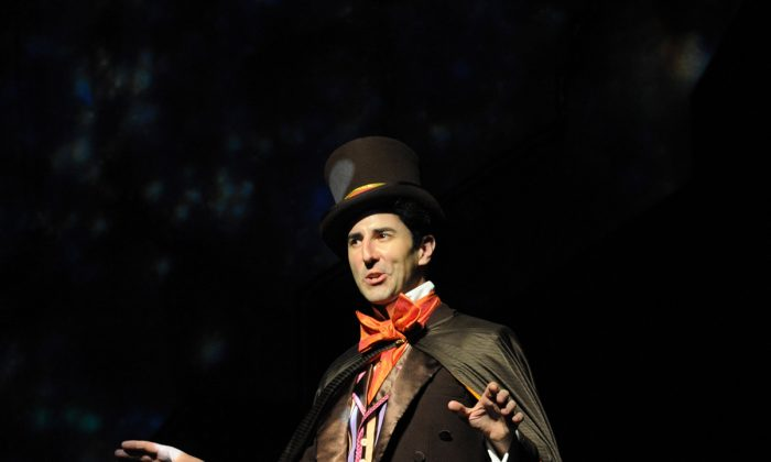 The talented Sean Fortunato in the role of  Willy Wonka, candy store owner extraordinaire. (Liz Lauren)