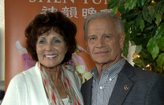 Carolyn and Ernst Hillenbrand attend Shen Yun Performing Arts in Toledo. (Courtesy of NTD Television)
