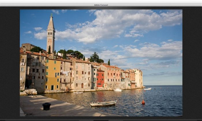 The image adjustment screen in Adobe Revel. (Courtesy of Adobe)