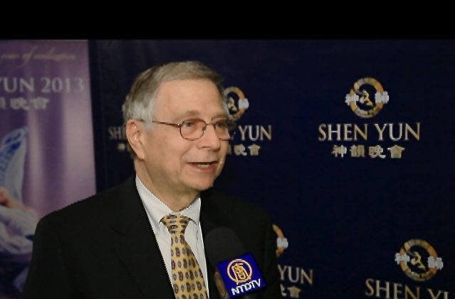 Ray Zuckerman enjoys Shen Yun Performing Arts at the Ikeda Theater on March 2. (Courtesy of NTD Television)