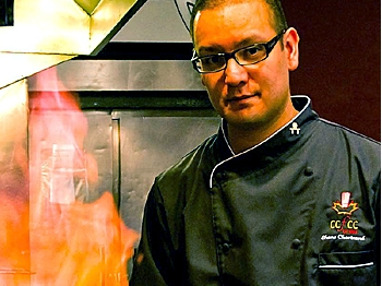The Chef at work (Courtesy Chef Shane Chartrand)