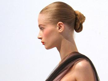 The pompadour is this year�s version of an up-do. Instead of the classic style, which seems old- fashioned for 2010, a pompadour gives the wearer a more cutting-edge look. (Florian Seefried/Getty Images)