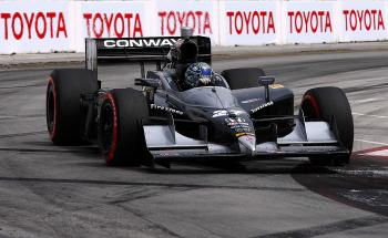 Mike Conway opened a six-second gap on the field on the way to his first IndyCar win. (Donald Miralle/Getty Images)