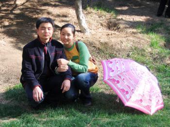 Tian Lu with her husband Cong Rixu before he was detained in China. (Courtesy of Tian Lu)