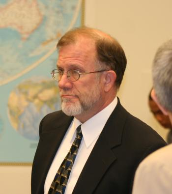 MAKES FACT-FINDING TRIPS: Michael Cromartie, Vice-Chair, U.S. Commission on International Religious Freedom (USCIRF), testified July 23 before the Tom Lantos Human Rights Commission on his fourth trip to Vietnam. (Gary Feuerberg/The Epoch Times)