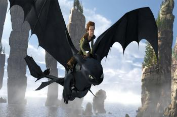 Hiccup (Jay Baruchel) befriends Toothless, an injured Night Fury - the rarest dragon of all - in 'How to Train Your Dragon.'  (Courtesy of DreamWorks Animation)