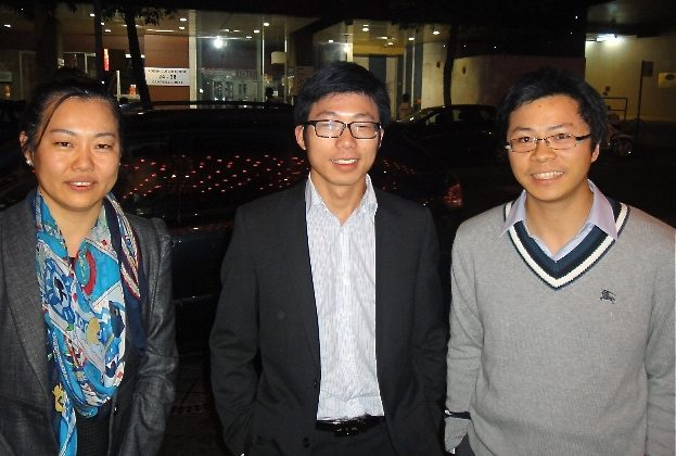 (L to R):Sophie, from Legal department, Ivan, from accounting department and Jerry, design engineer for the same company, all attend Shen Yun Performing Arts at Sydney's Capitol Theatre. (Oliver Perrett/The Epoch Times)