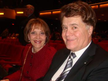 Member of Parliament Bernard Patry and his wife, Francoise Patry, attended Shen Yun Performing Arts at Place Des Arts on Friday night.  (Dongyu Teng/The Epoch Times)