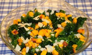Winter Kale Salad With Roasted Squash and Pine Nuts