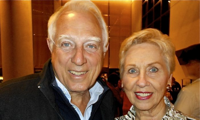 Chuck and Betty Oldanie attend Shen Yun Performing Arts at the David A. Straz Jr. Center. (Marie Yeung/The Epoch Times)