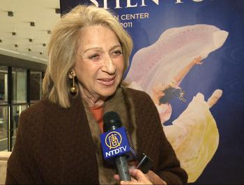 Daisy Soros at Lincoln Center's David H. Koch Theater following the Premiere of Shen Yun Performing Arts on Jan. 6, 2011. (Courtesy of NTD Television)