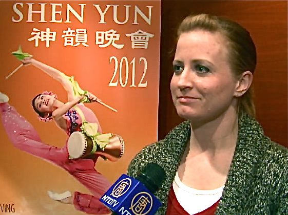 Michelle Heusser, dancer and choreographer, attends Shen Yun Performing Arts at the Northern Alberta Jubilee Auditorium, on April 11. (Courtesy of NTD Television)