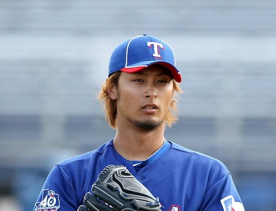 Yu Darvish will be counted on to anchor the Rangers rotation this season. (Christian Petersen/Getty Images)