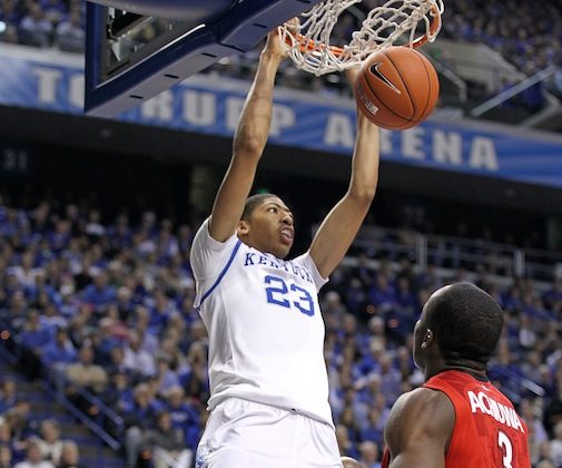 Kentucky freshman Anthony Davis is averaging 12.3 points, 9.1 rebounds, and 4.5 blocks per game through eight contests. (Andy Lyons/Getty Images)