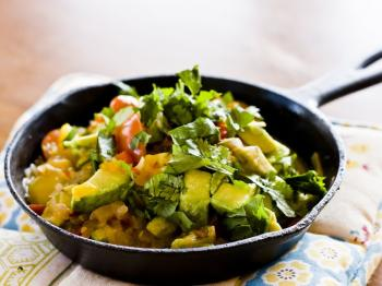 DECONSTRUCTED GUACAMOLE PASTA: This is great for satisfying that avocado craving without over doing it on the chips.  (Grace Wu/The Epoch Times)
