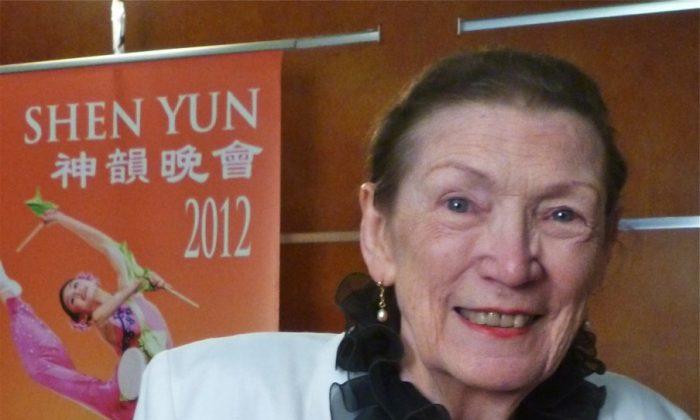 Doris Bishop (nee Goddard) at Shen Yun Performing Arts at Sydney's Capitol Theatre. (Oliver Perrett/The Epoch Times)