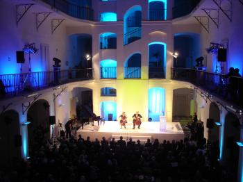 IN CONCERT: 'Duo Brikcius&#8212 2 Cellos Tour' playing at the Czech Museum of Music in Prague. (Courtesy of Franti&#353ek Brikcius)