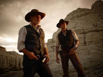 Harrison Ford and Daniel Craig star in Cowboys & Aliens. (Timothy White/Universal Studios)