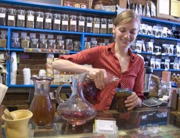TEA IN THE AFTERNOON: Refresh yourself after shopping, Artemis Tea Shop.  (Cat Rooney/The Epoch Times)