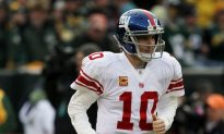 Eli Manning Leaves Practice With Stomach Bug