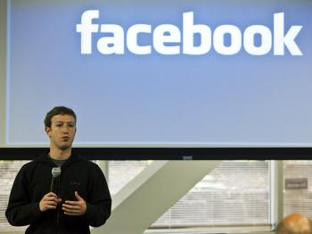 Mark Zuckerberg, chief executive officer of Facebook, holds a press conference at their headquarters abouth their new privacy policy on Facebook, in Palo Alto, California, May 26. Zuckerberg outlined Facebook's new privacy control methods. (Kim White/Getty Images)