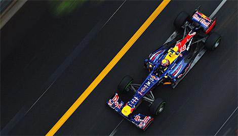 Mark Webber will start from the pole for the Formula One Grand Prix of Monaco. (Mark Thompson/Getty Images)