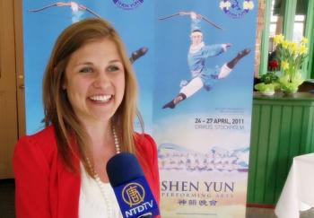 Former professional ballet dancer Felicia Sobocki saw the Shen Yun performance in Stockholm with her parents.  (Courtesy of NTD Television)