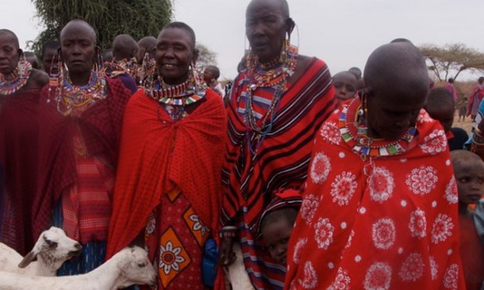 Masaai girls attend the Alternative Rite of Passage ceremony on Aug. 27 in Kenya. (Courtesy of Teri Gabrielsen/Alternative Rite of Passage Program)