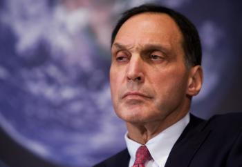 Lehman Brothers Chairman and CEO Richard Fuld is looking for potential investors to take a stake in his company. The investment bank's stock has dropped over 75 percent since Jan. 1. (Mandel Ngan/AFP/Getty Images)
